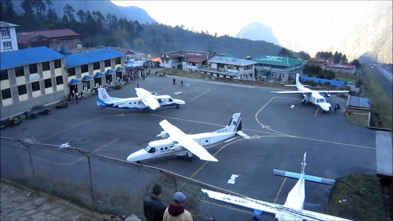 Lukla Airport on the way to Everest base Camp