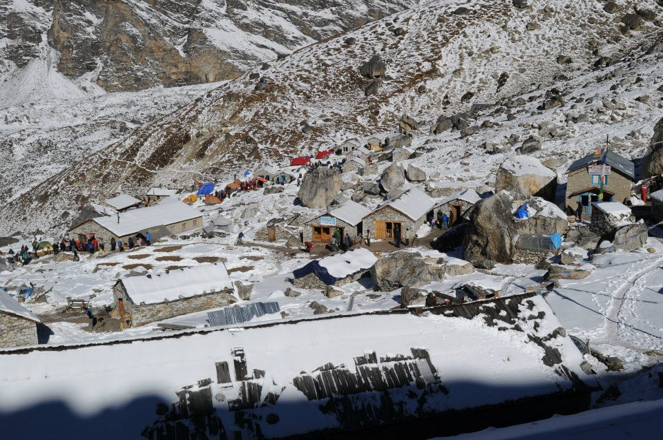 Mera Peak: village on the way
