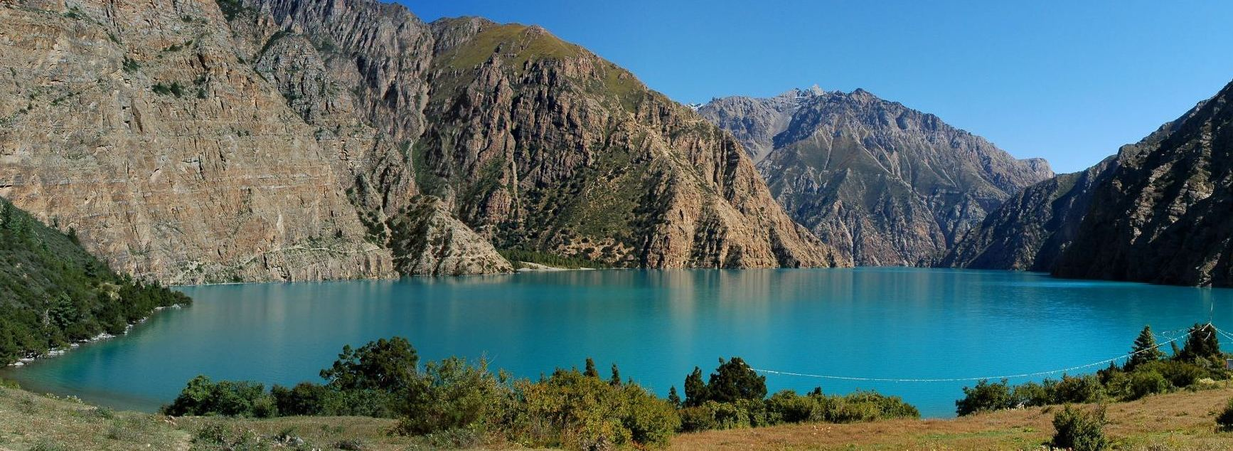 Phoksundo lake is a freshwater lake located at shey phoksundo national park in nepal the lake is popular for its majestic blue green watercolor