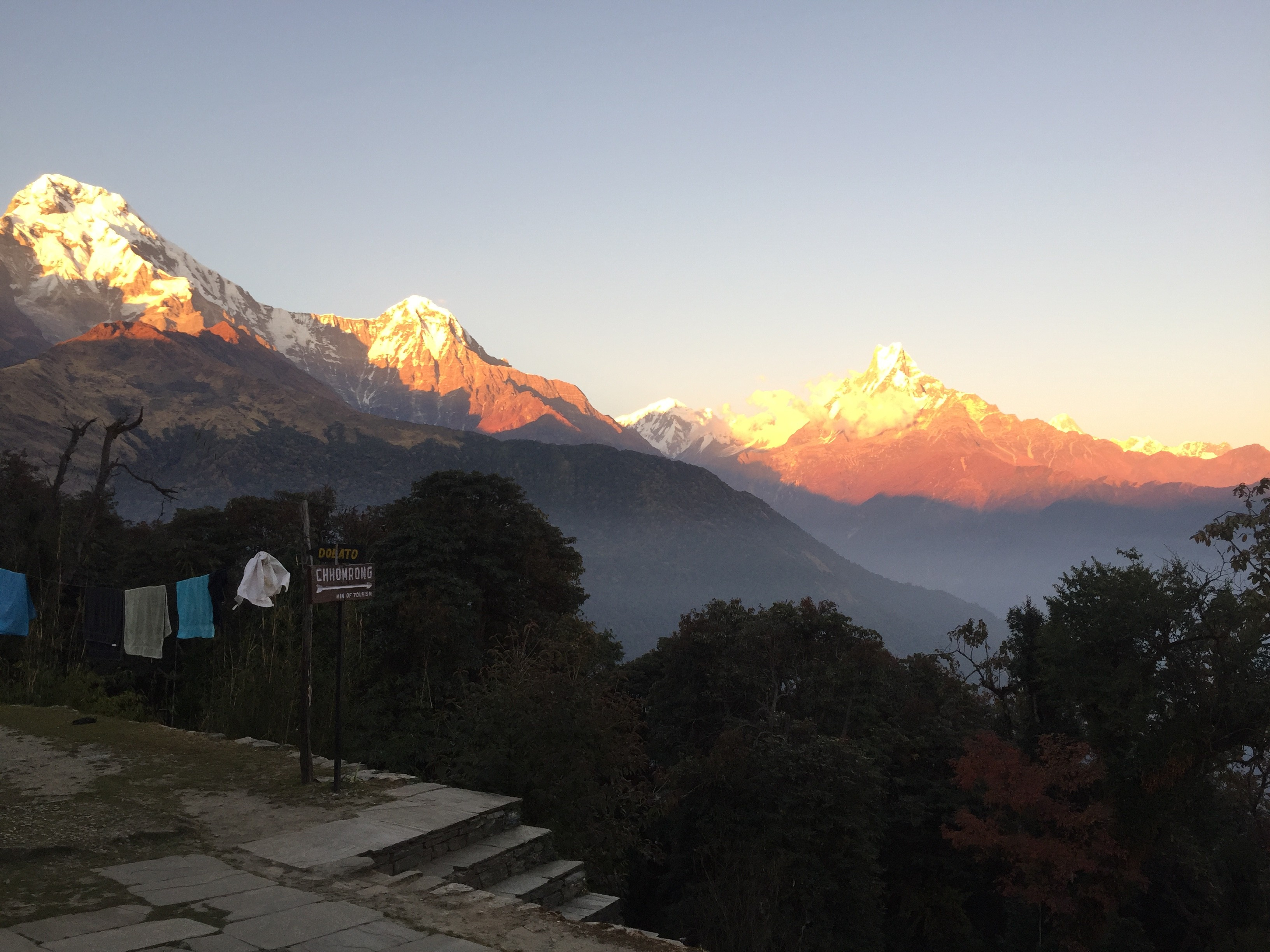 Poon Hill sunset view