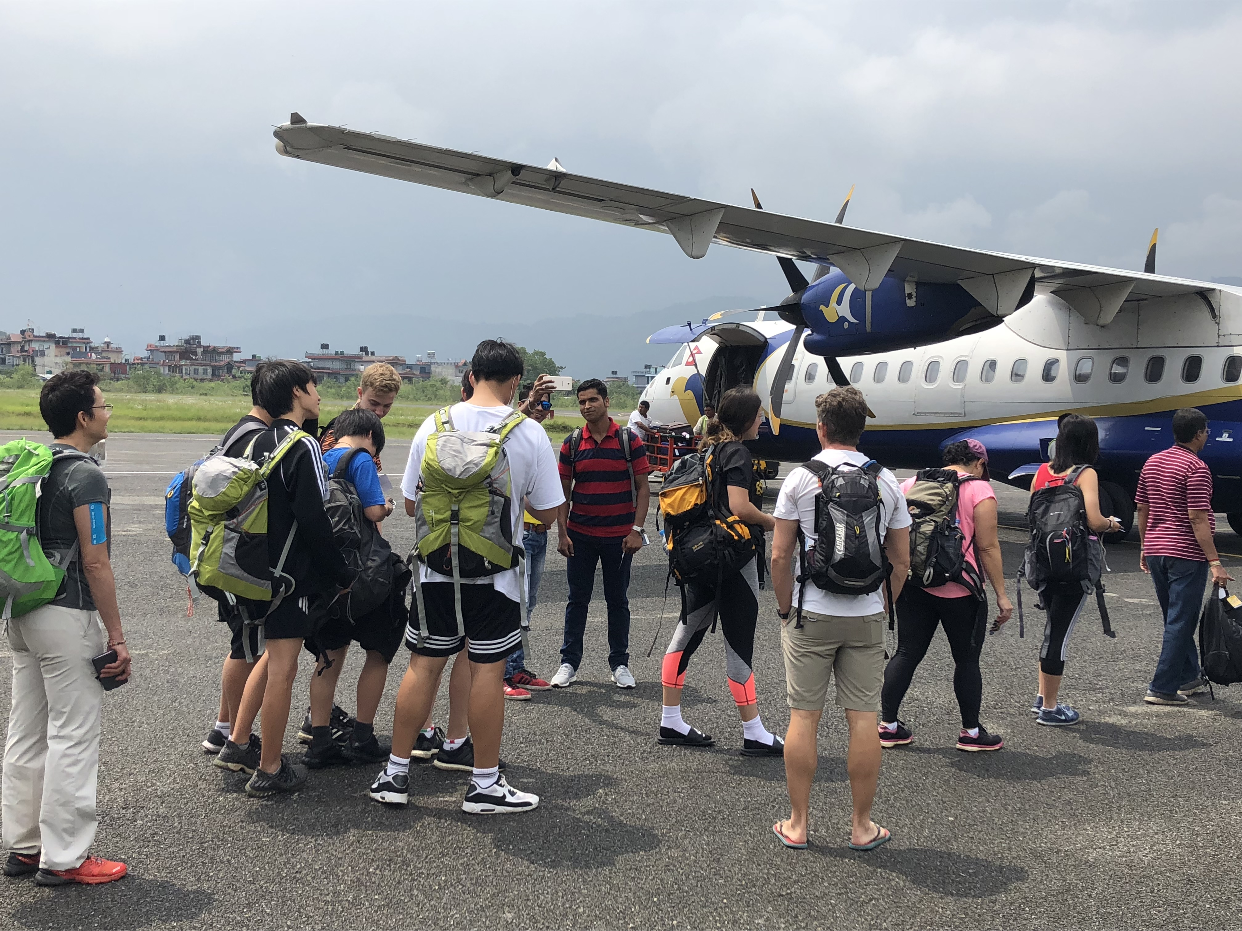 Students group safely returning to Kathmandu from Annapurna Base Camp