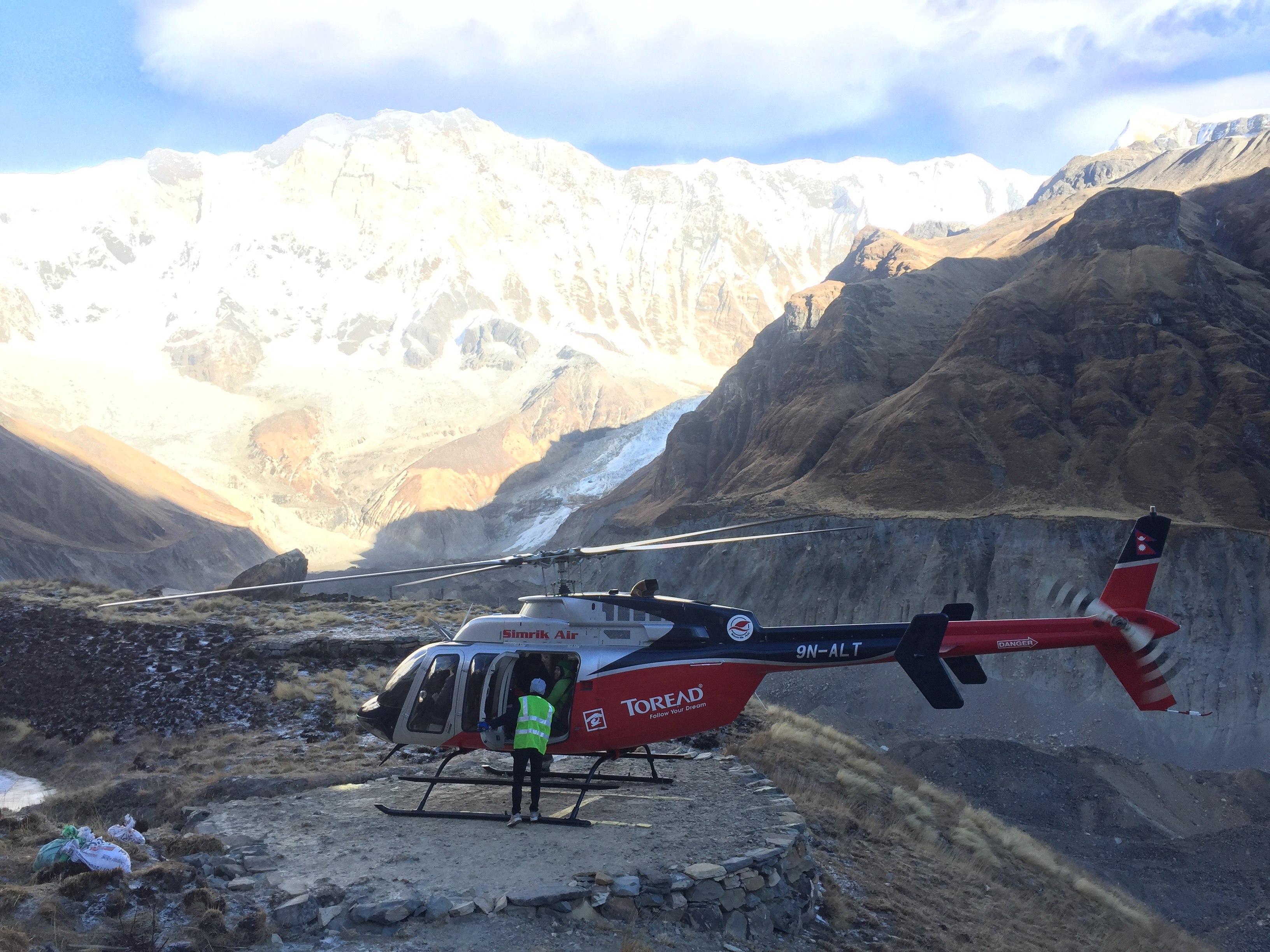Helicopter Mountain Flight in Nepal